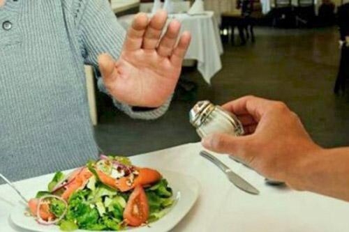 Ограничить количество соли