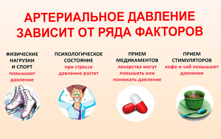 Артериальное давление зависит от ряда факторов
