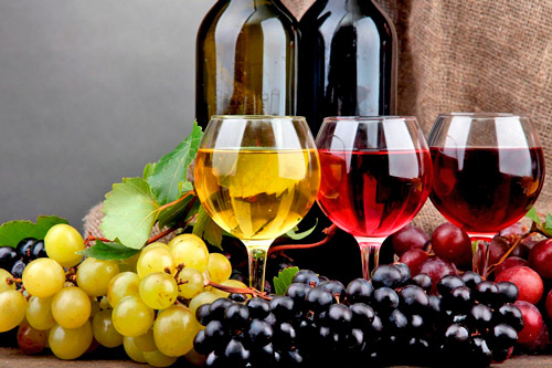 Красные, белые и розовые вина