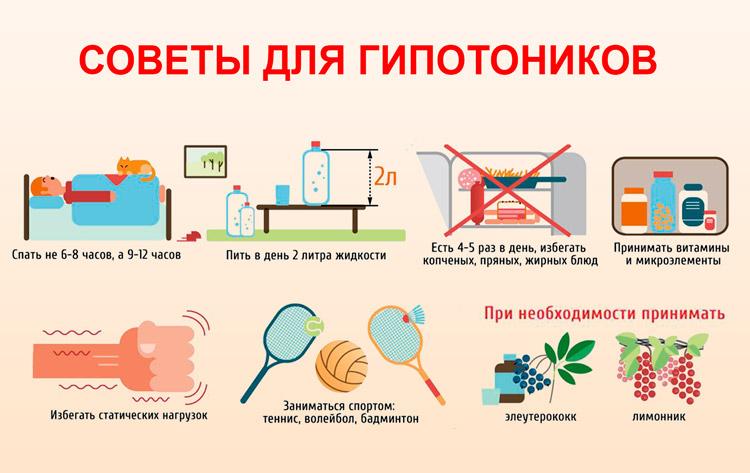 Советы для гипотоников
