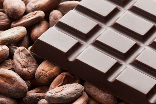 Какао и черный шоколад