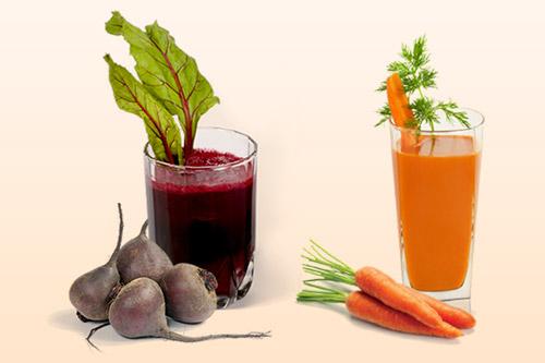 Морковный и свекольный соки