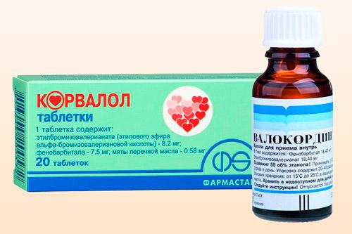 Препараты Валокордин и Корвалол