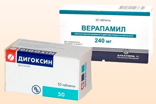 Дигоксин и Верапамил