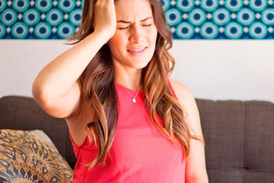 Беременная с головной болью