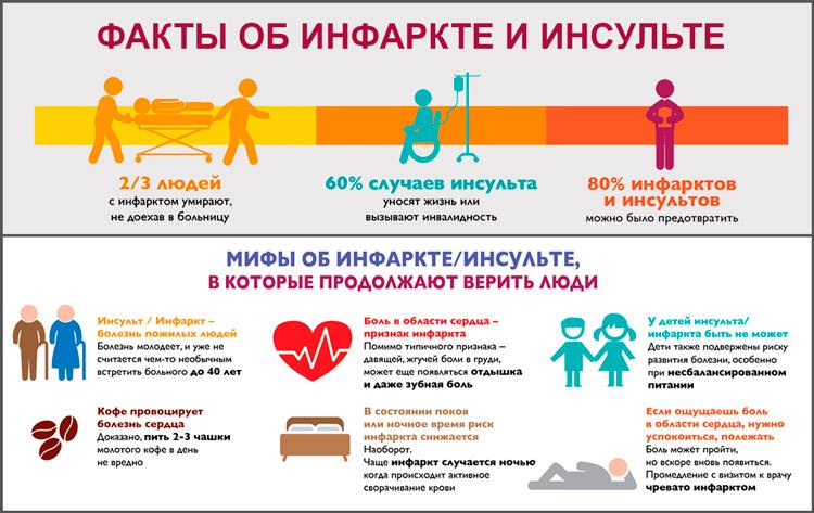 Факты об инфаркте и инсульте