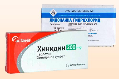 Препараты Лидокаин и Хинидин