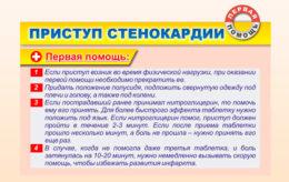 Приступ стенокардии , первая помощь