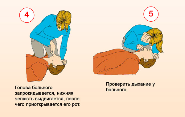Проверить дыхание больного