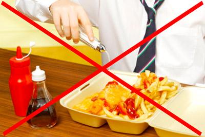 Не есть вредную пищу