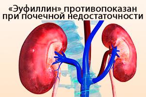 Препарат противопоказан при почечной недостаточности