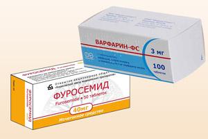 Лекарственные средства Фуросемид и Варфарин