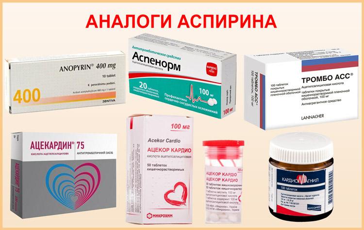 Препараты аналогичные аспирину