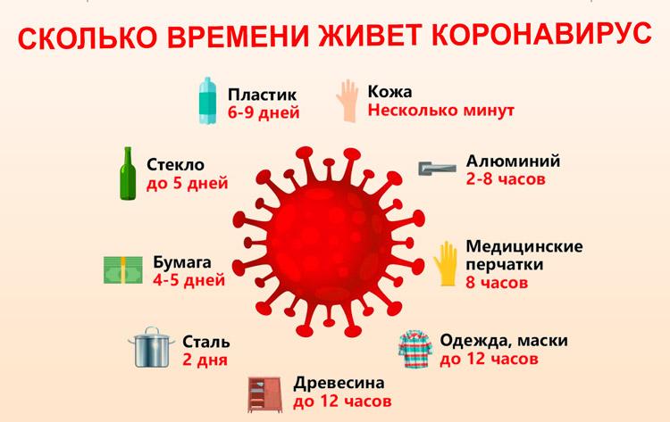 Срок жизни коронавируса